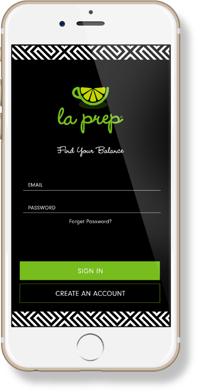 la prep App on phone